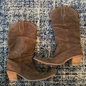 Steve Madden suede cowboy boots